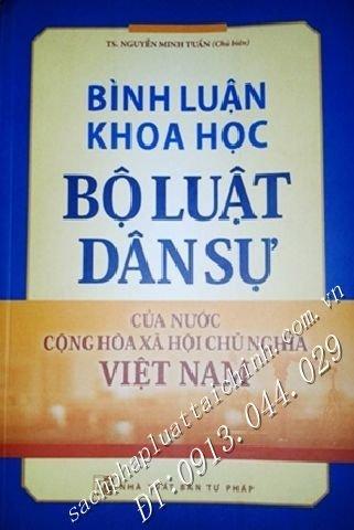 Bình luận khoa học Bộ luật Dân sự của nước Cộng hòa xã hội chủ nghĩa Việt Nam