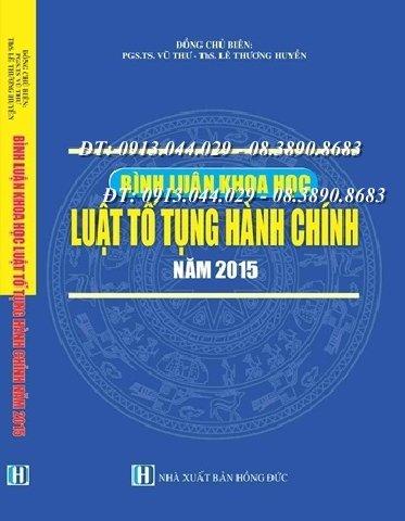 Bình luận khoa học Luật Tố tụng hành chính năm 2015