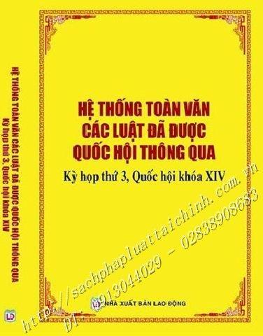 HỆ THỐNG TOÀN VĂN CÁC LUẬT ĐÃ ĐƯỢC QUỐC HỘI THÔNG QUA Kỳ họp thứ 3, Quốc hội khóa XIV