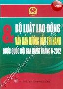 BỘ LUẬT LAO ĐỘNG & VĂN BẢN HƯỚNG DẪN THI HÀNH ĐƯỢC QUỐC HỘI BAN HÀNH THÁNG 18-6-2012  VIETNAMESE - CHINESE