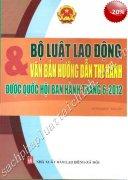 BỘ LUẬT LAO ĐỘNG & VĂN BẢN HƯỚNG DẪN THI HÀNH ĐƯỢC QUỐC HỘI BAN HÀNH THÁNG 18-6-2012  VIETNAMESE - ENGLISH