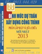 nh mc d ton xy dng cng trnh : phn lp t & sa cha mi nht nm 2013
