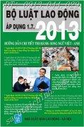 BỘ LUẬT LAO ĐỘNG 2013  SONG NGỮ ANH – VIỆT  HƯỚNG DẪN CHI TIẾT THI HÀNH -MỚI NHẤT ÁP DỤNG 1.7.2013