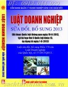 LUẬT DOANH NGHIỆP SỬA ĐỔI BỔ SUNG NĂM 2013