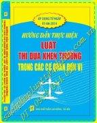 Hướng dẫn thực hiện Luật thi đua, khen thưởng trong các cơ quan, đơn vị (áp dụng từ ngày 01/06/2014)