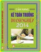 CẨM NANG KẾ TOÁN TRƯỞNG DOANH NGHIỆP 2014