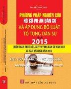 PHƯƠNG PHÁP NGHIÊN CỨU HỒ SƠ VỤ ÁN DÂN SỰ VÀ ÁP DỤNG BỘ LUẬT TỐ TỤNG DÂN SỰ NĂM 2015