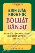 Bình luận khoa học bộ luật dân sự của nước Cộng hòa xã hội chủ nghĩa Việt Nam 2015