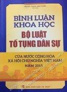 Bình luận khoa học Bộ luật tố tụng dân sự của nước Cộng hòa xã hội chủ nghĩa Việt Nam năm 2015